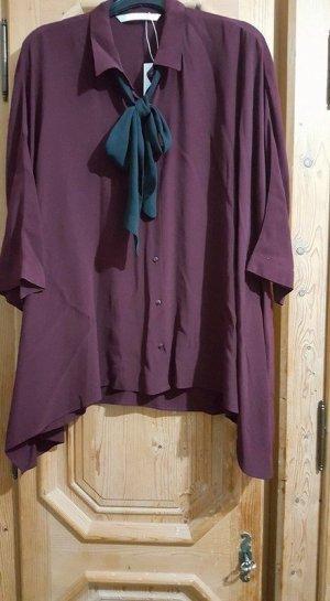 zara bluse asymmetrisch oversize-hemd