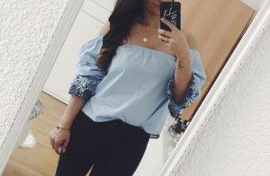 Zara Bluse Baby blau