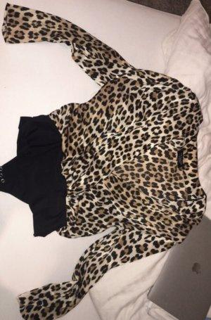 Zara Bluse/Body im Leopardenmuster