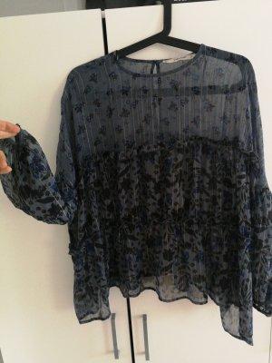 Zara Oversized Blouse blue
