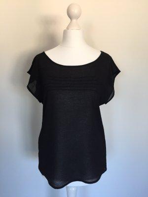 Zara Blusa trasparente nero
