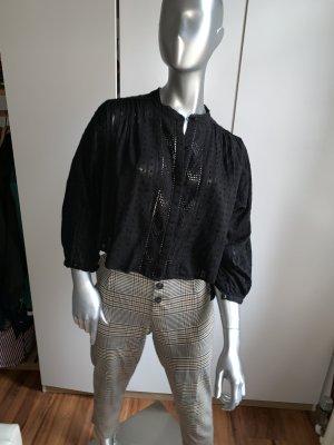 Zara Carmen blouse zwart Katoen