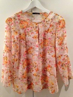 Zara Bluse, florales Design, Gr. 36
