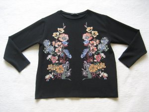 zara bluse folklor blumen floral neuwertig gr s 36