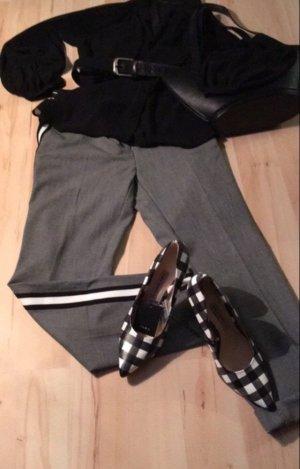 Zara Bluse Gr L, schwarz, transparent,