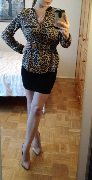 Zara Bluse Gr. S 36 Leo leopard langarm sexy blogger must have oberteil shirt