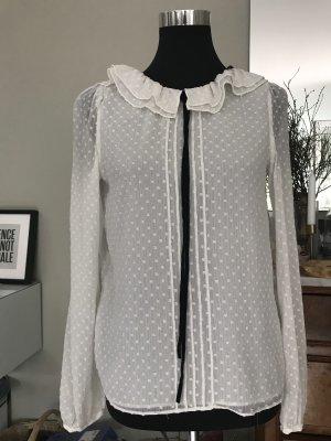 Zara Blusa transparente blanco puro