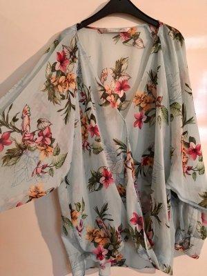 Zara Bluse Gr. S Hawaii Style Blumenmuster