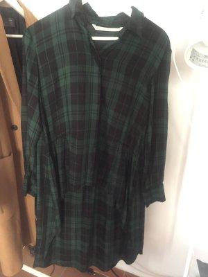 Zara Long Blouse black-dark green