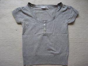 zara bluse grau s 36 neuwertig