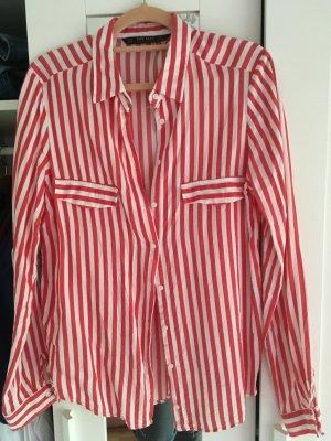 Zara Bluse Größe M Red White