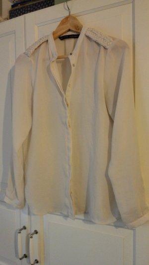 ZARA bluse größe S creme weiß