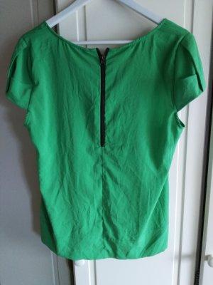 zara bluse grün reißverschluss hippie trend L