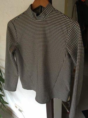 Zara Blusa de manga larga negro-blanco