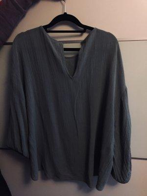 Zara Long Blouse slate-gray