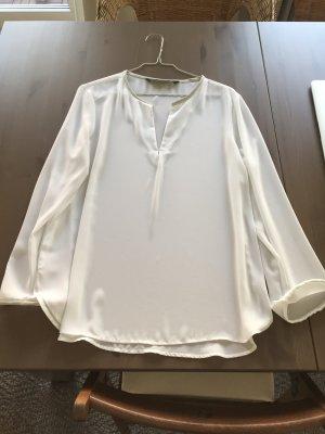 Zara Blusa blanco Viscosa