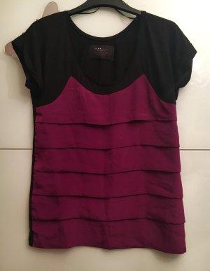 Zara Camicetta a blusa lilla-nero