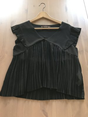 Zara Blusa negro Viscosa