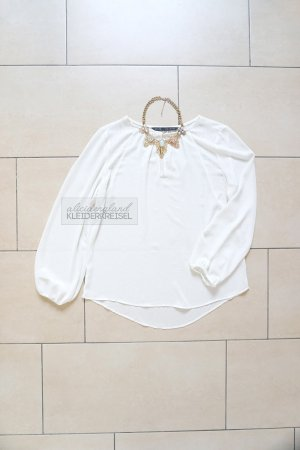 Zara Blouse white-gold-colored