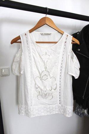 Zara Camicetta a maniche corte bianco