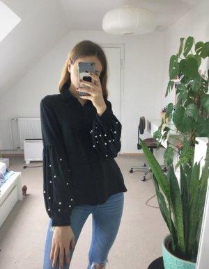 Zara Bluse mit Perlen Details S/36