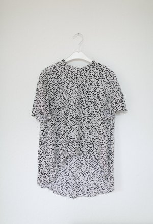 Zara Bluse mit Punkten schwarz weiß Shirt Gr. S Oversized