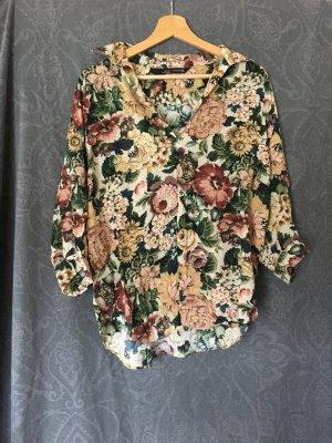 Zara Blouse Collar multicolored viscose