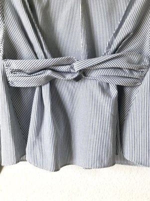 Zara Blouse blanc-bleu azur