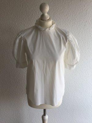 Zara Blusa de manga corta blanco