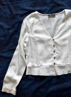 ZARA Bluse mit V Ausschnitt S