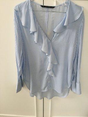 Zara Camicetta a blusa bianco-azzurro