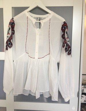 Zara Blouse à manches longues blanc