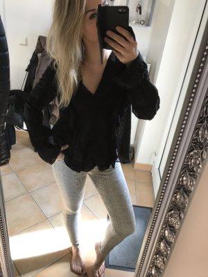 Zara Blouse met lange mouwen zwart