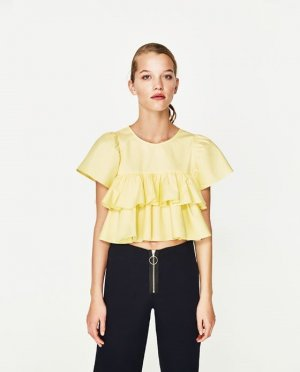 Zara Short Sleeved Blouse primrose cotton