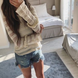 Zara Blusa-camisa crema