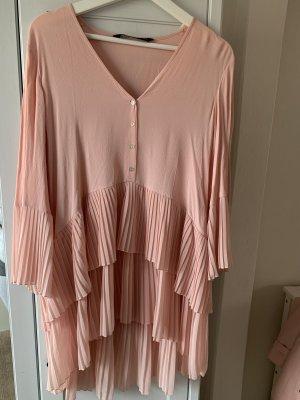 Zara Camicetta lunga rosa pallido