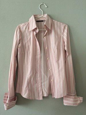 ZARA Bluse rosa mit weissen Streifen
