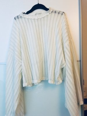 Zara Blouse transparente blanc