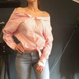 Zara Carmen Blouse white-light pink cotton