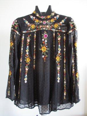 Zara Bluse, schwarz, Größe L, gebraucht.