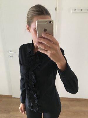 Zara Bluse schwarz Volants s