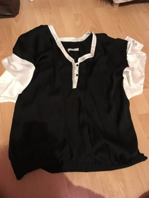 Zara Bluse schwarz/weiß, Top von zara schwarz/weiß
