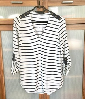 Zara Bluse Shirt Navy gestreift XS