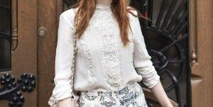 Zara Bluse Spitze Viktorianischer Romantik-Stil