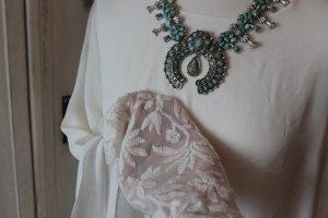 Zara Blouse à manches longues blanc acrylique