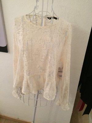 Zara Bluse, spitzenbluse, Shirt, m, spitze