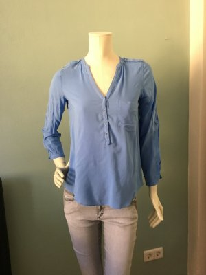 Zara Blusa-camisa azul celeste-azul aciano