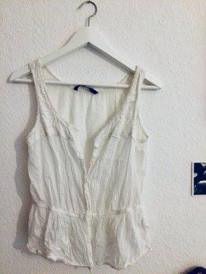 Zara Blouse sans manche blanc coton