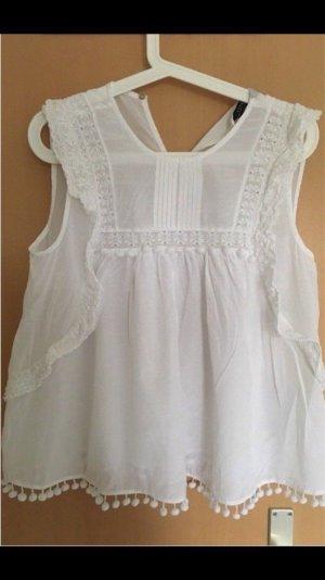 Zara ❤️ Bluse Top Shirt weiß M