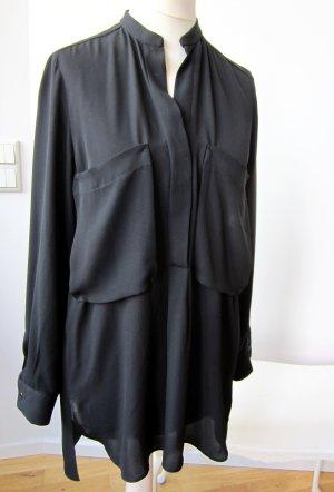 Zara Bluse transparent Brusttaschen oversized XS S